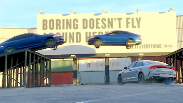 NEW 2021 Kia K5 flies through the air – Triple Threat Stunt | New Name of the Kia Optima