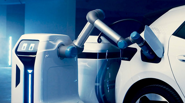 Volkswagen Mobile Charging Robot for Electric Cars